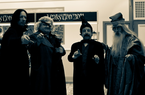 Snape, Mad Eye, Flitwick, and Dumbledore