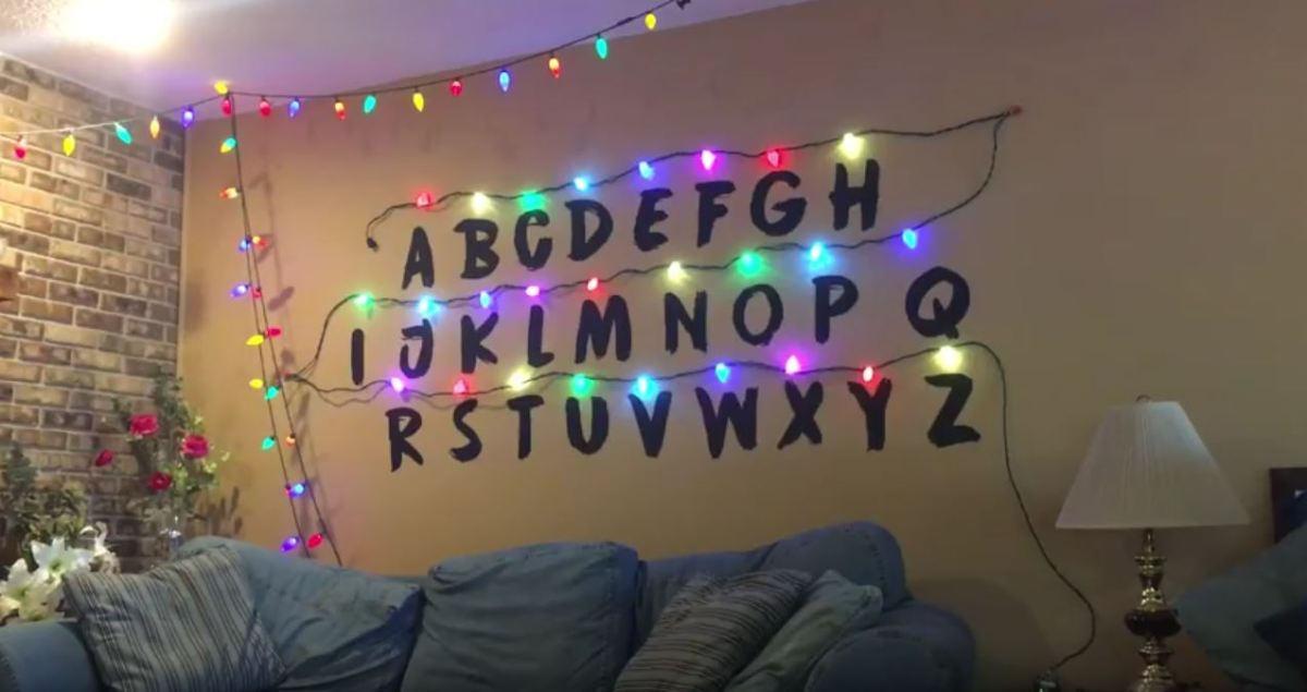 stranger things wall sixtyfourcolorbox - Stranger Things Christmas Decorations